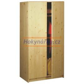 Šatní skříň 2 dveře 180 dřevěná lakovaná masiv smrk