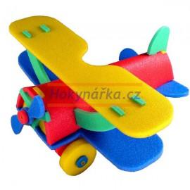 3D dvouplošník letadlo pěnové puzzle