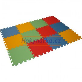 Pěnový koberec puzzle MAXI 12 mix barev 8mm