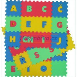 Pěnový koberec puzzle písmena 36 mix barev 8mm
