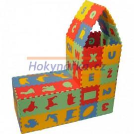 Pěnový koberec puzzle 72 mix barev 8mm