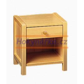 Komoda noční stolek zásuvka dřevěná lakovaná masiv smrk