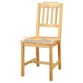 Jídelní židle dřevěná lakovaná masiv smrk