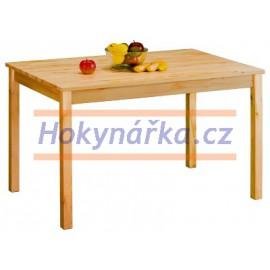 Jídelní stůl 118 dřevěný lakovaný masiv borovice