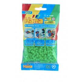 Hama Zářivě zelené korálky