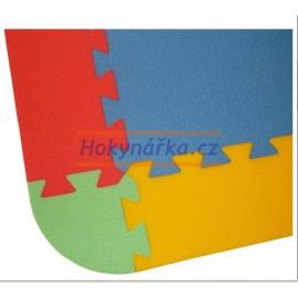 Pěnový koberec pěnové puzzle zakončovací díly pro MAXI 12 mix barev 8mm Český výrobce
