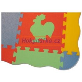 Pěnový koberec pěnové puzzle Zakončovací díly vlna pro MAXI 12 mix barev 8mm Český výrobce