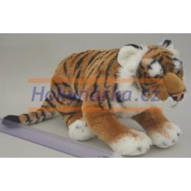 Plyšový Tygr hnědý 60cm bez ocasu - tygřík - plyšáci