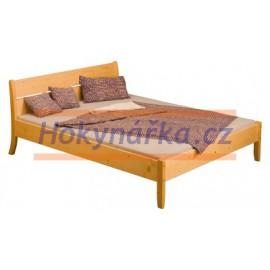Postel dvoulůžko 200x160 cm LINDA dřevěná lakovaná masiv smrk