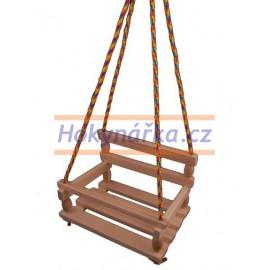 Dětská Houpačka závěsná pro děti dřevěná přírodní