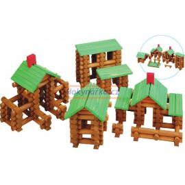 Srubová STAVEBNICE dřevěná velká 300 Dílů Stavění domů  MAXIM