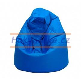 SEDACÍ VAK ve tvaru hrušky modrý Standard kuličkový 75x110 Sedací vaky