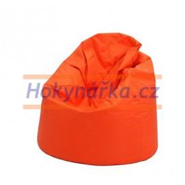 SEDACÍ VAK ve tvaru hrušky oranžový Standard kuličkový 75x110 Sedací vaky