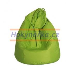 SEDACÍ VAK ve tvaru hrušky zelený Větší kuličkový 90x143 Sedací vaky pytel