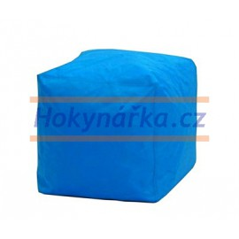 SEDACÍ VAK ve tvaru KOSTKY modrý TABURET kuličkový 40X40 vaky pytel