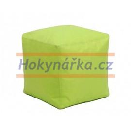 SEDACÍ VAK ve tvaru KOSTKY zelený TABURET kuličkový 40X40 vaky pytel