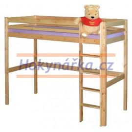 Patrové lůžko postel dřevěná lakovaná masiv smrk patrová postel