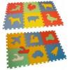 Pěnový koberec puzzle MAXI 12 doprava a zvířata mix 8mm