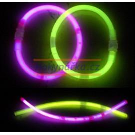 Svítící tyčky - náramek - tyčinky - balení 50ks tyčky + 50ks spojky chemické světlo