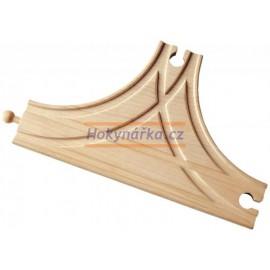 Maxim dřevěná mašinka T-výhybka