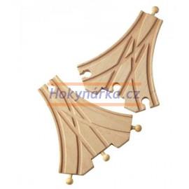 Maxim dřevěná mašinka Třícestná výhybka 2 ks