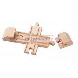 Maxim dřevěná mašinka křížení + nárazníky