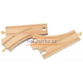 Maxim dřevěná mašinka standardní koleje výhybky 2ks