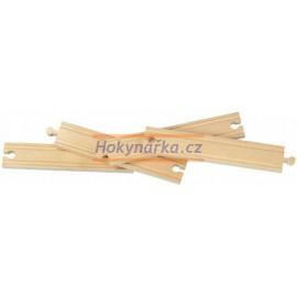 Maxim dřevěná mašinka 20cm rovné koleje 4 ks
