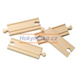 Maxim dřevěná mašinka 10 cm rovné koleje 4 ks