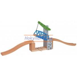 Maxim dřevěná mašinka padací most