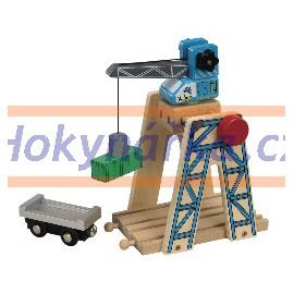 Maxim dřevěná mašinka Jeřáb