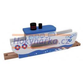 Maxim dřevěná mašinka Trajekt
