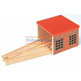 Maxim dřevěná mašinka malé depo