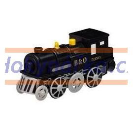 Maxim dřevěná mašinka elektrická lokomotiva černá