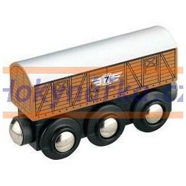 Maxim dřevěná mašinka nákladní vagón
