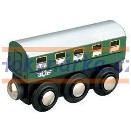Maxim dřevěná mašinka osobní vagón