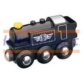 Maxim dřevěná mašinka parní lokomotiva černá