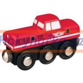 Maxim dřevěná mašinka lokomotiva červená