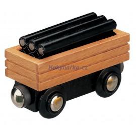 Maxim dřevěná mašinka Vagón s potrubím