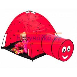 Dětský stan s tunelem BERUŠKA na doma i na zahradu