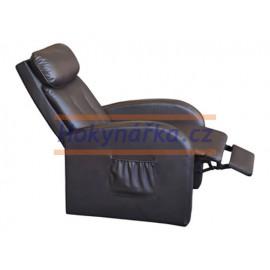 Relaxační masážní polohovací křeslo TOLEDO hnědé
