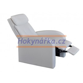 Relaxační masážní polohovací křeslo TOLEDO bílé