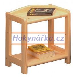 Noční stolek 2 police dřevěný lakovaný masiv smrk
