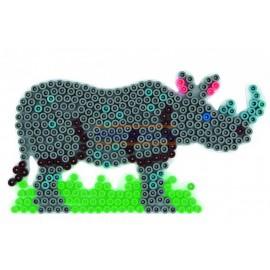 Hama zažehlovací Podložka Nosorožec pro korálky MIDI