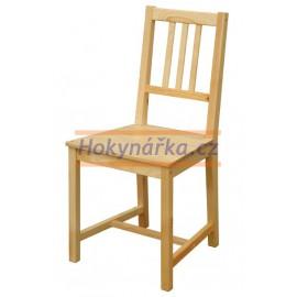 Jídelní židle B dřevěná nelakovaná masiv smrk