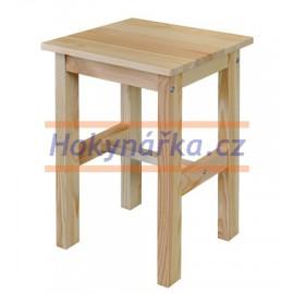Stolička dřevěná lakovaná masiv smrk
