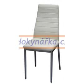 Jídelní židle ML imitace kůže kov béžová