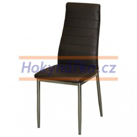 Jídelní židle ML imitace kůže kov hnědá