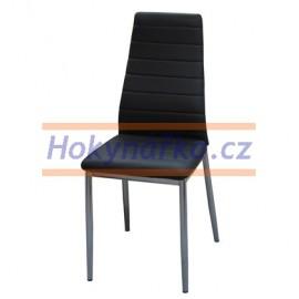 Jídelní židle ML imitace kůže kov černá