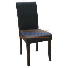 Jídelní židle PM masiv imitace kůže černá